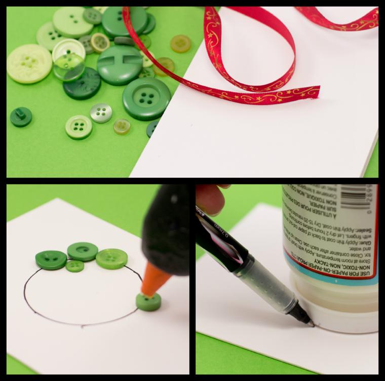 hacer tarjetas con botones de colores