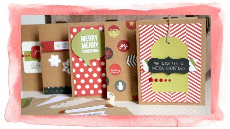 hacer tarjetas navidad cartoulina