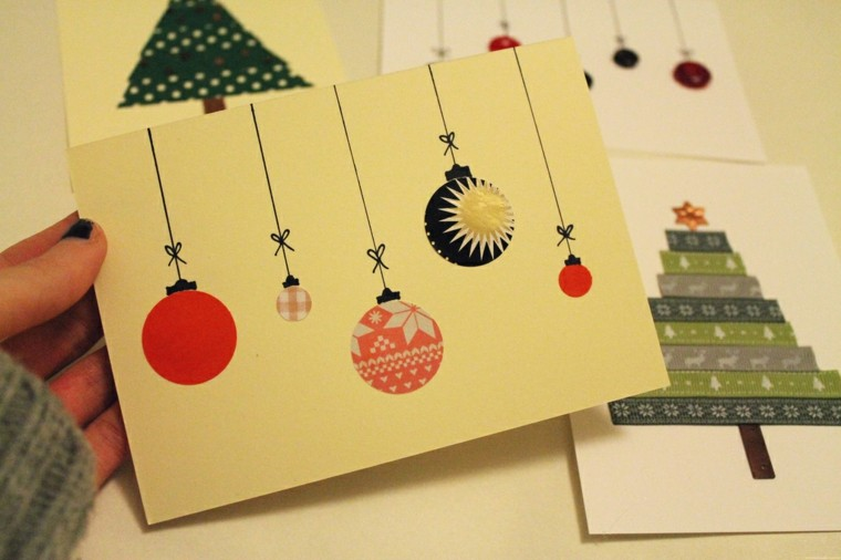 hacer tarjetas navidad caseras papel