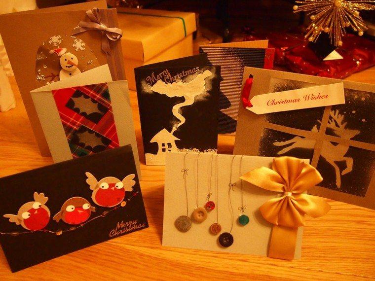 hacer tarjetas navideñas caseras deco