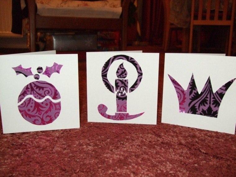hacer tarjetas navideas papel regalo