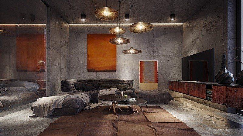 hormigón armado expuesto casa dormitorio ideas