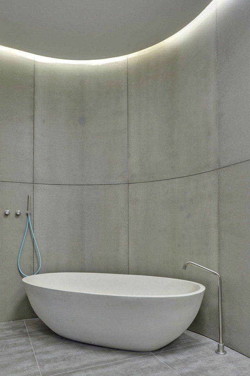 hormigon expuesto casa bano minimalista ideas