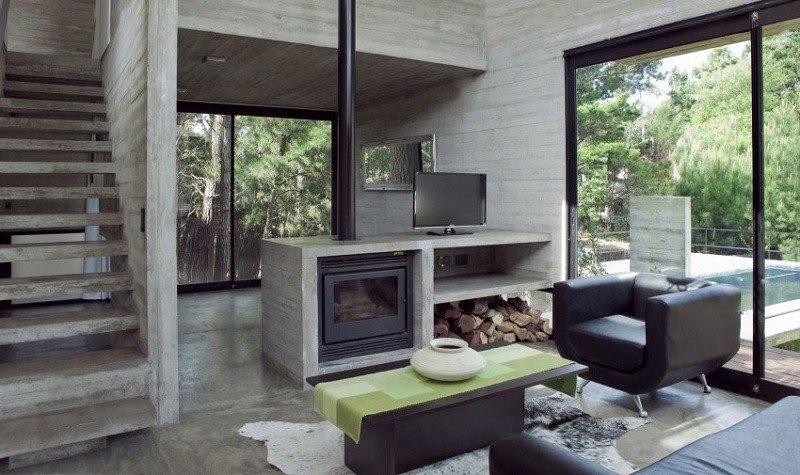 Hormig n armado expuesto decorando la casa moderna for Casas de hormigon precios y fotos