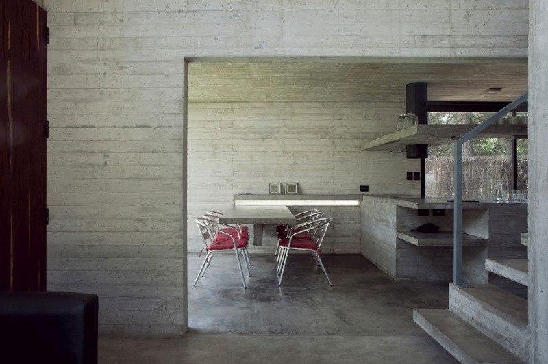 Hormig n armado expuesto decorando la casa moderna for Mesa comedor hormigon