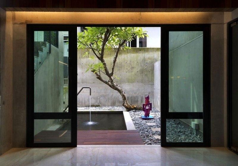hormigon expuesto casa valla jardin ideas