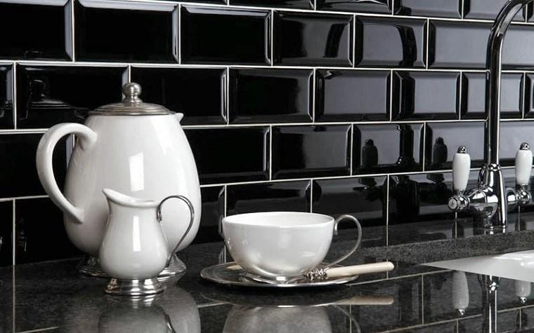 color negro azulejos cafe estilo blanco
