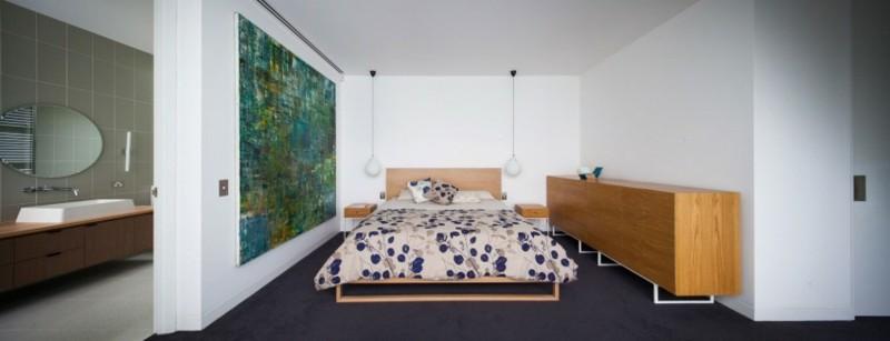 ideas decoración dormitorio cuadro grande verde ideas
