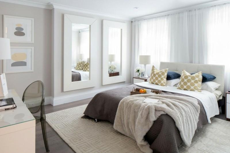 ideas decoración dormitorio dos epejos moderno