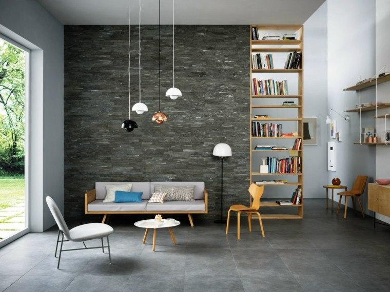 pared de piedra gris