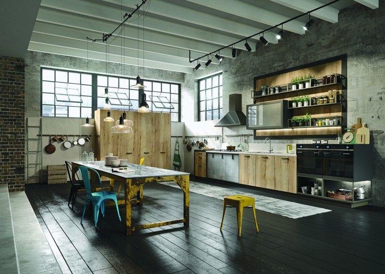 imágenes de cocinas diseno industrial loft ideas