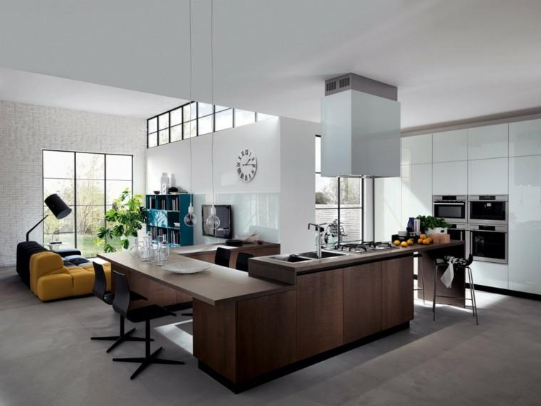 imágenes de cocinas diseno moderno abierta salon ideas