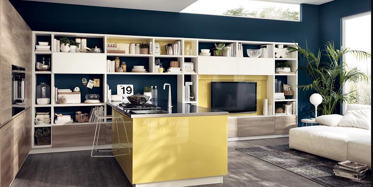 imágenes de cocinas diseno moderno amarillo ideas