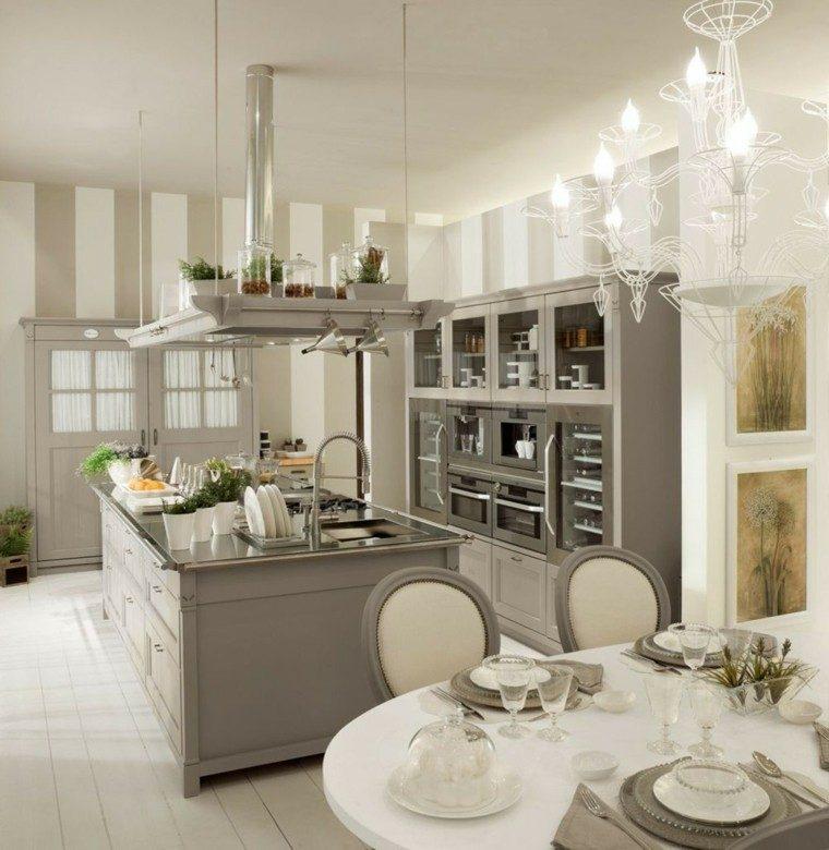 imágenes de cocinas diseno moderno gris blanco ideas
