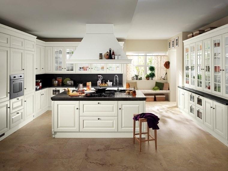 imágenes de cocinas diseno moderno isla blanca ideas