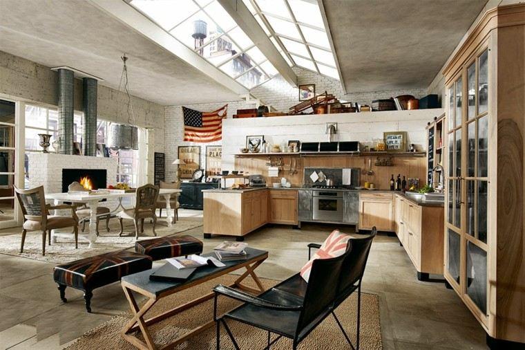 imágenes de cocinas diseno moderno isla loft ideas