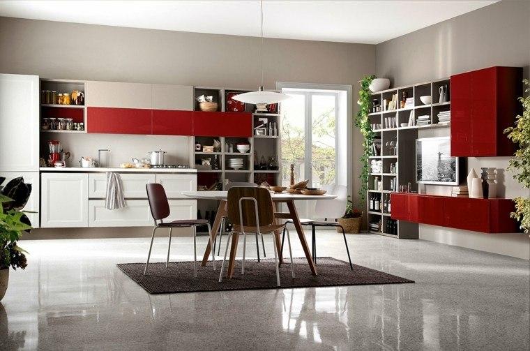 im'agenes de cocinas diseno moderno rojos ideas