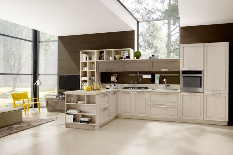 imagenes cocinas madera color beige ideas