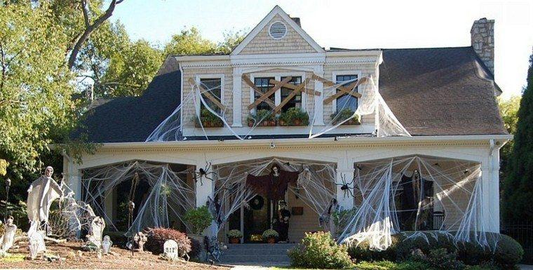 imagenes de halloween decoracion puerta miedo casa original ideas
