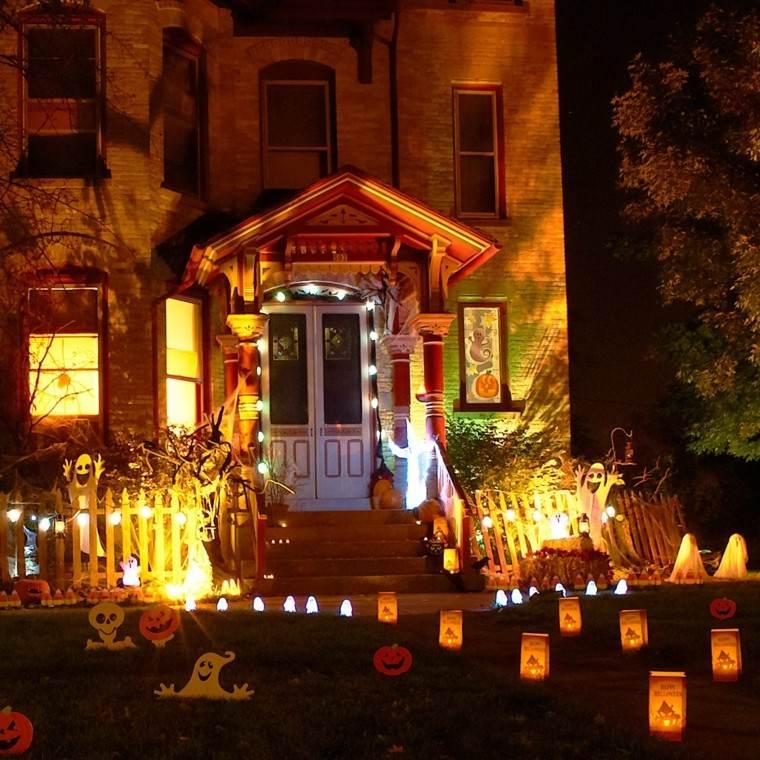 imagenes de halloween decoracion puerta miedo impresionante ideas