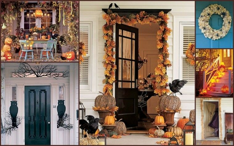 imagenes de halloween decoracion puerta miedo varias opciones ideas