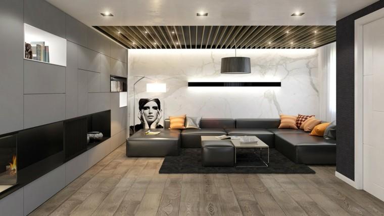imagenes de salones decorados led moderno