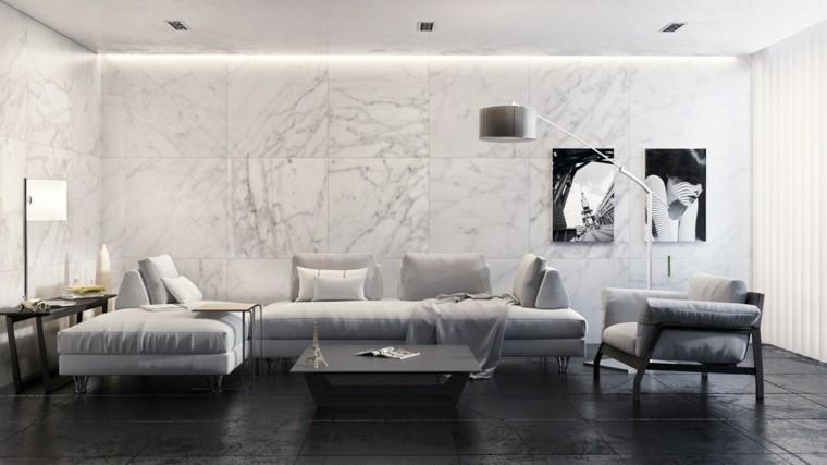 imagenes de salones decorados sistema marmol moderno