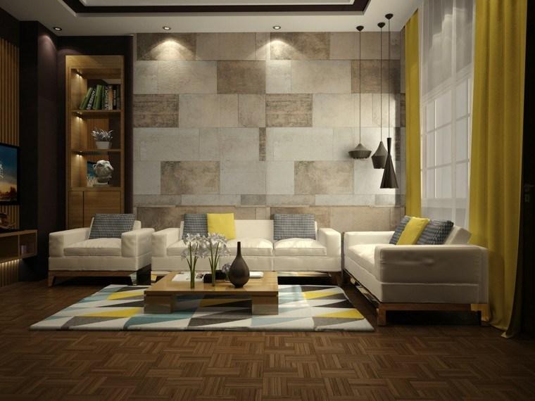 imagenes de salones decorados sistema madera
