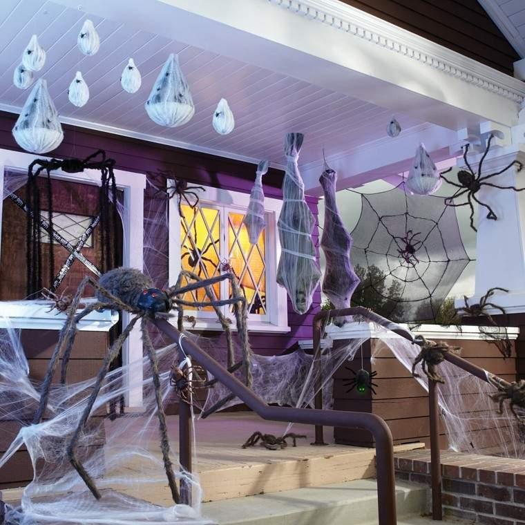 imagenes halloween decoracion puerta miedo aranas ideas