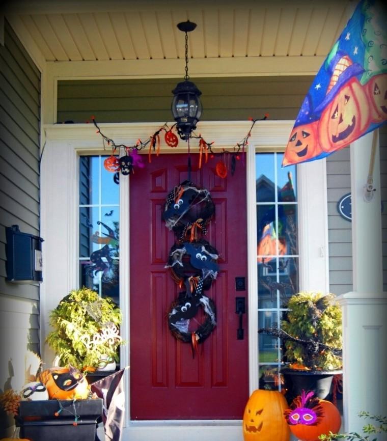 Imagenes de halloween 35 ideas para decorar la puerta - Decoracion halloween para casa ...