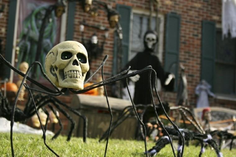 imagenes halloween decoracion puerta miedo jardin ideas