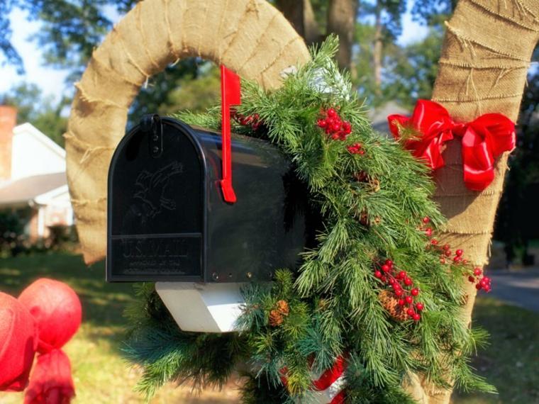 imagenes navideñas decoracion buzon cintas