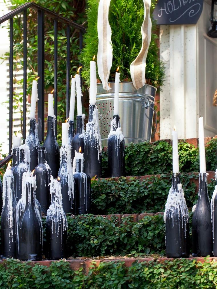 imagenes navideñas decoracion diy botellas