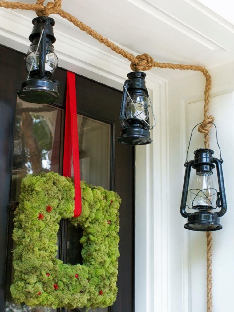 imagenes navide as decorando exteriores para las fiestas