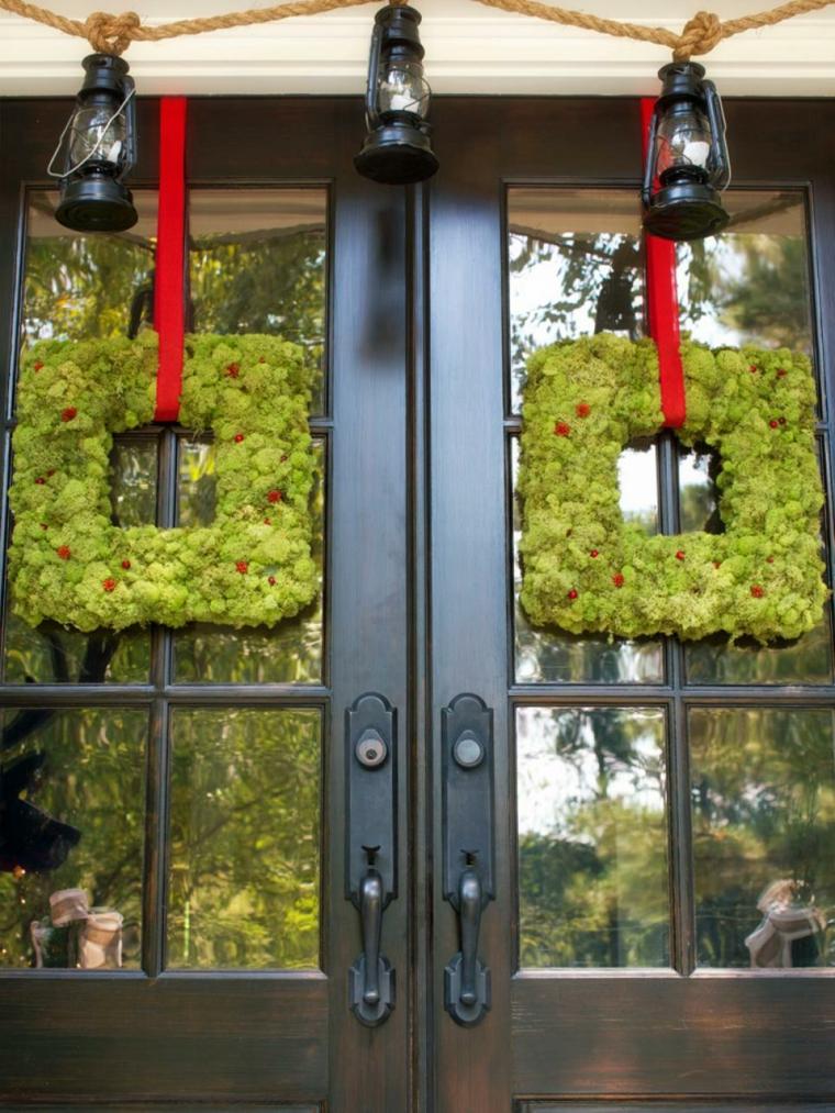 imagenes navideñas decoracion puertas cristales
