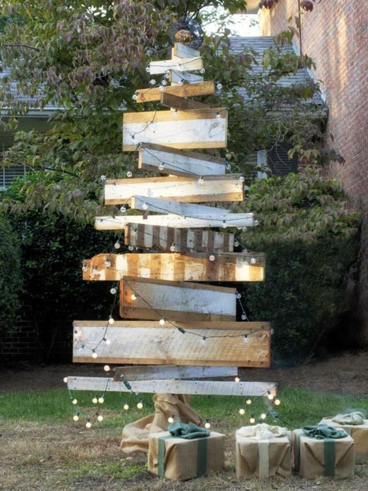 imagenes navideñas decoracion troncos madera