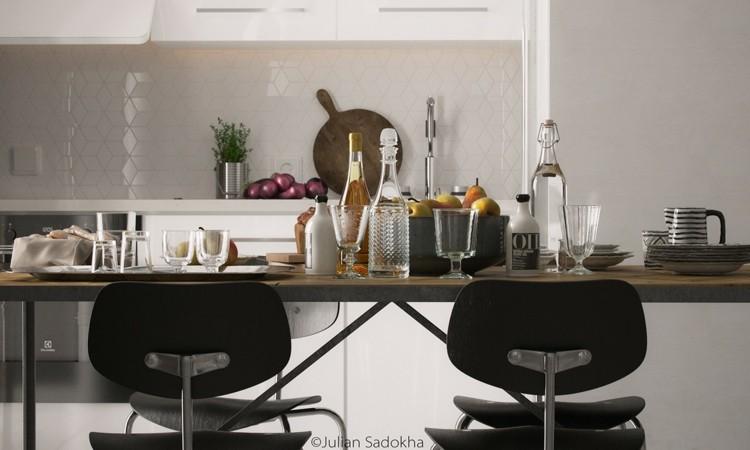interior fresco ideas cocina vidrio