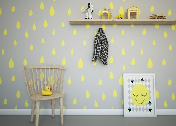 juegos decorado formas sillas lluvia madera