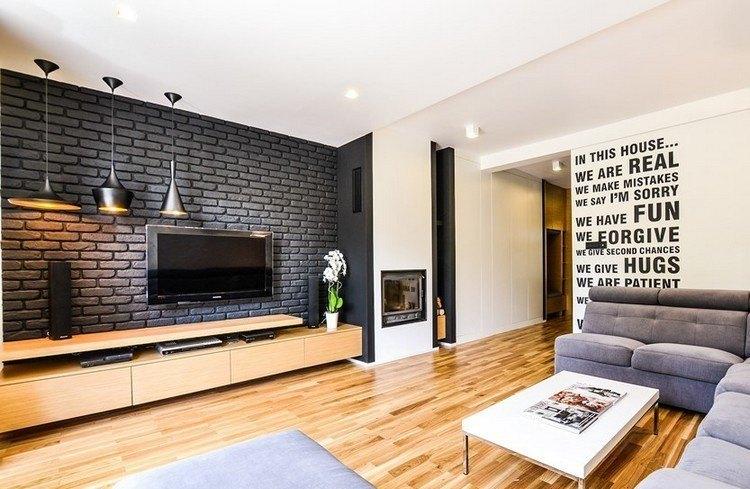 ladrillos diseño mueble decorado abierto lamparas