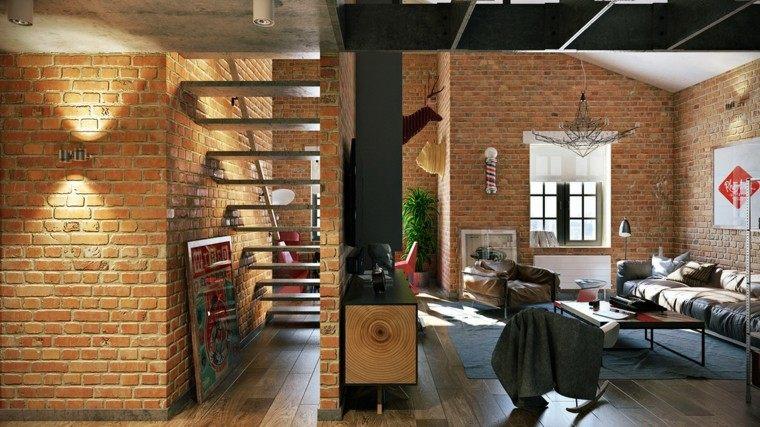 ladrillos paredes zonas casa maderas