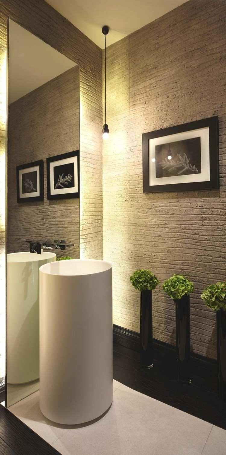 lampara baño colgante negra minimalista