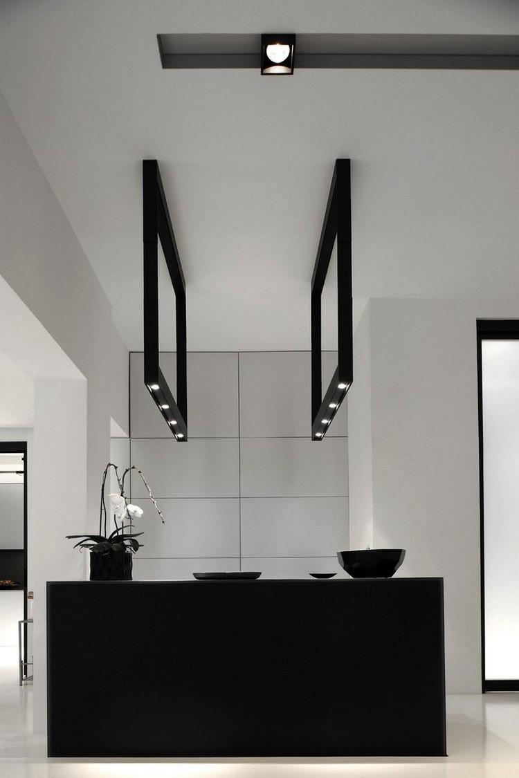 lamparas baño marcos negros modelo