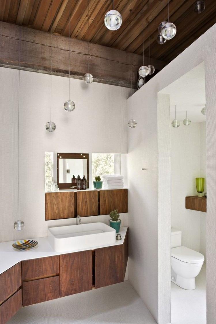 lamparas bolas colgantes baño