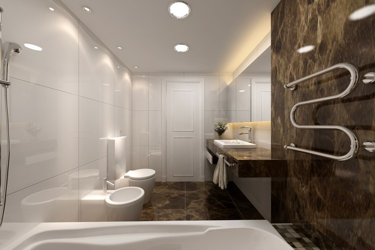baño lamparas de techo redondas