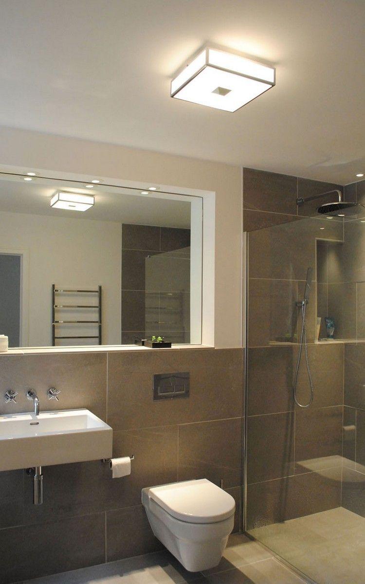 lamparas techo baño cuadradas modelo Luxpan