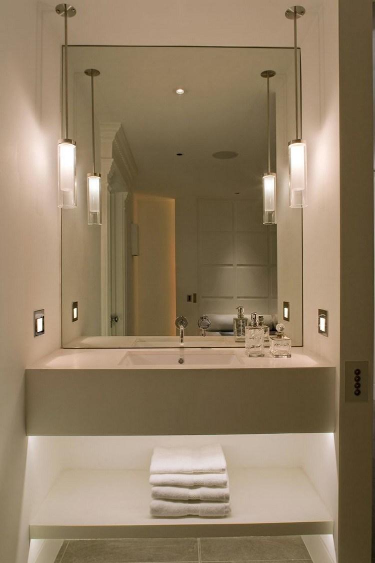 Lamparas de techo para cuartos de ba o 50 ideas for Disenos de muebles de cocina colgantes