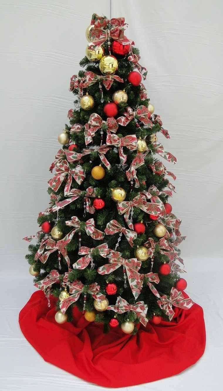 lazos estampas navidenas arbol grande ideas