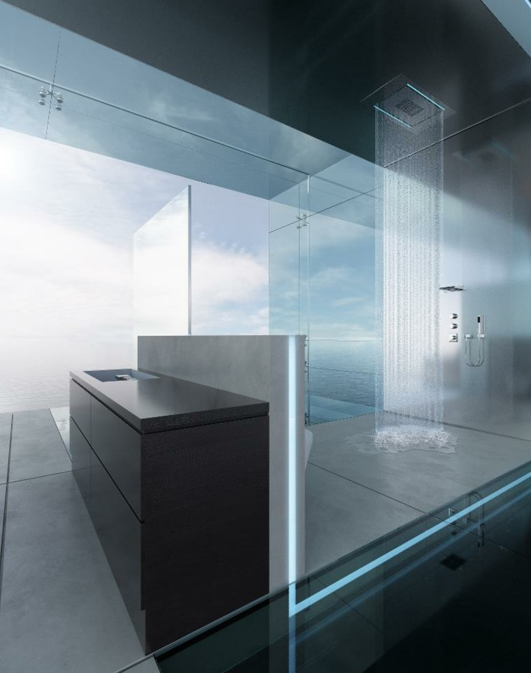 Ba os modernos con ducha ideas de dise o fabulosas - Diseno de duchas ...