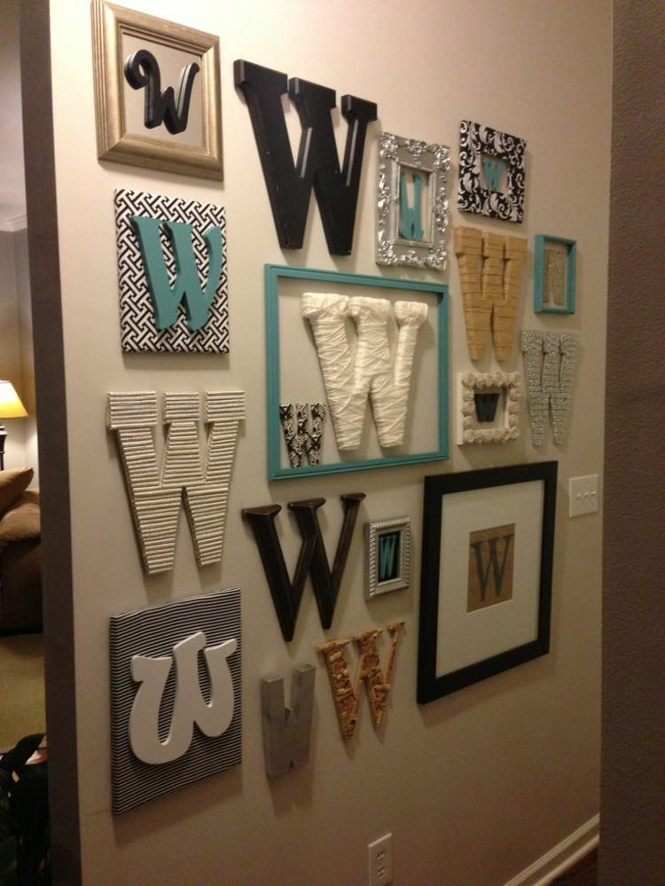 letras decorativas pared ideas cuadros