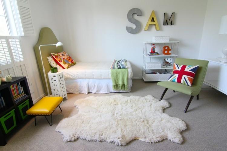 letras decorativas pared nios infantil amarillo